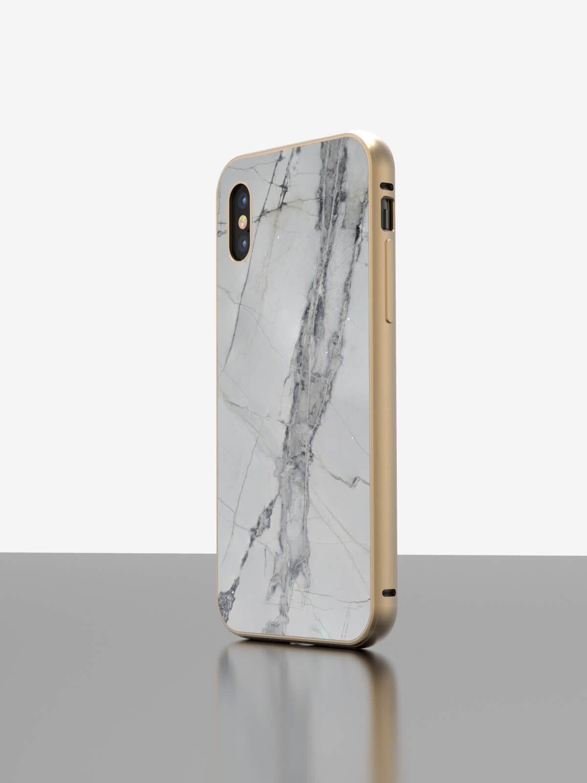 The iPhone Marble Case Invisible Grey