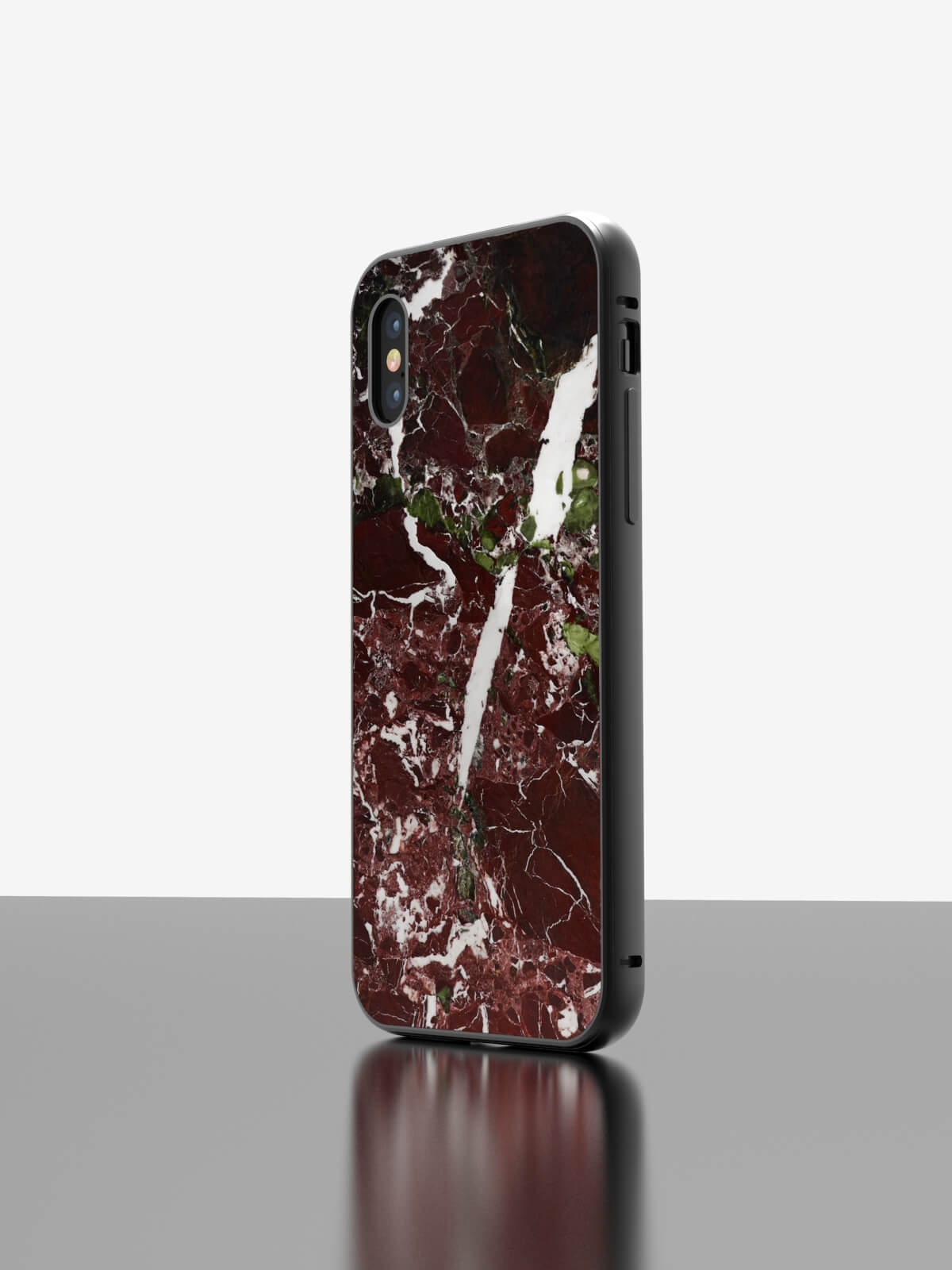 The iPhone Marble Case Rosso Levanto