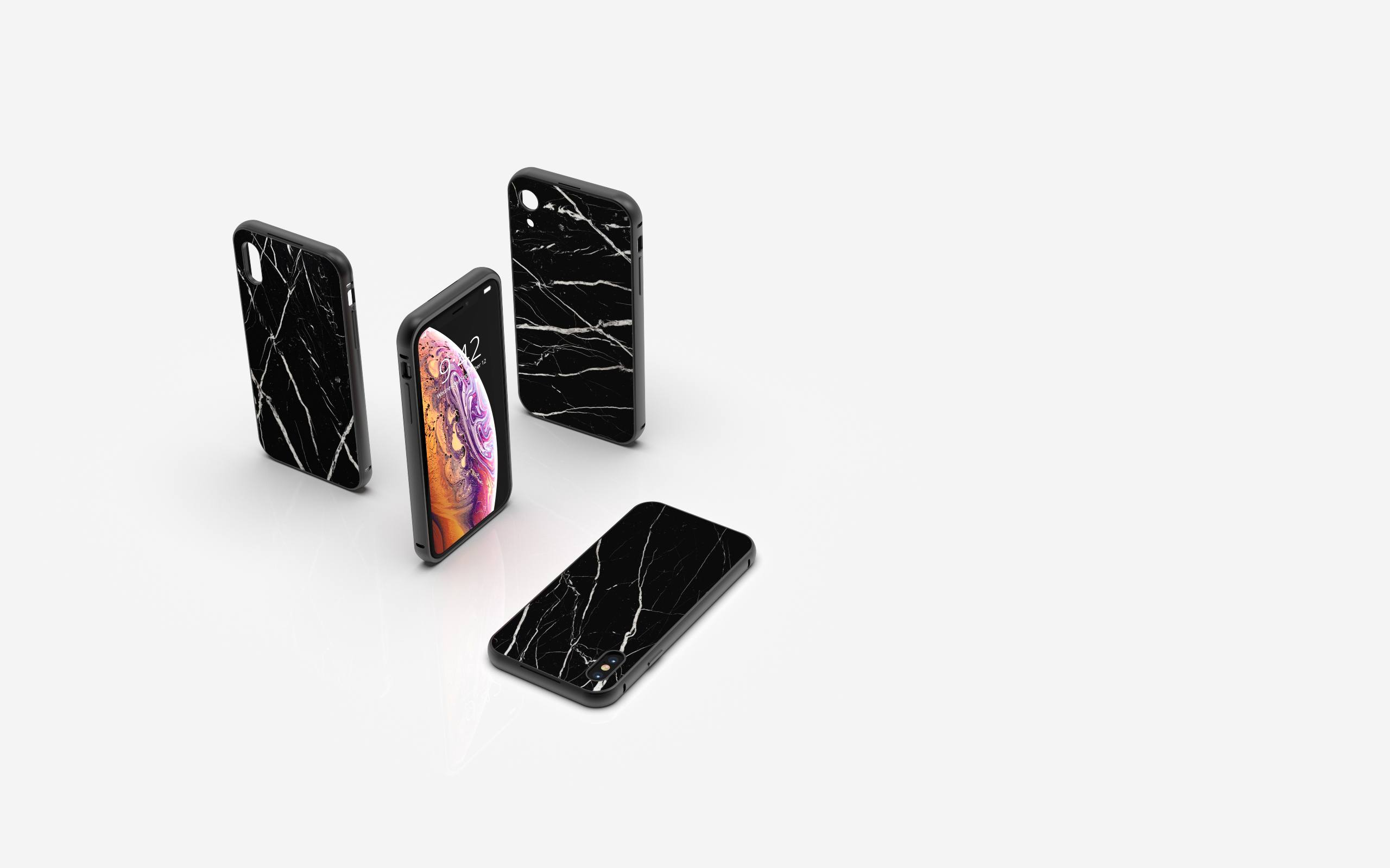 Buy real marble iPhone cases Nero Marquina from Roxxlyn handcrafted in Berlin, Germany iPhone cases Nero Marquina