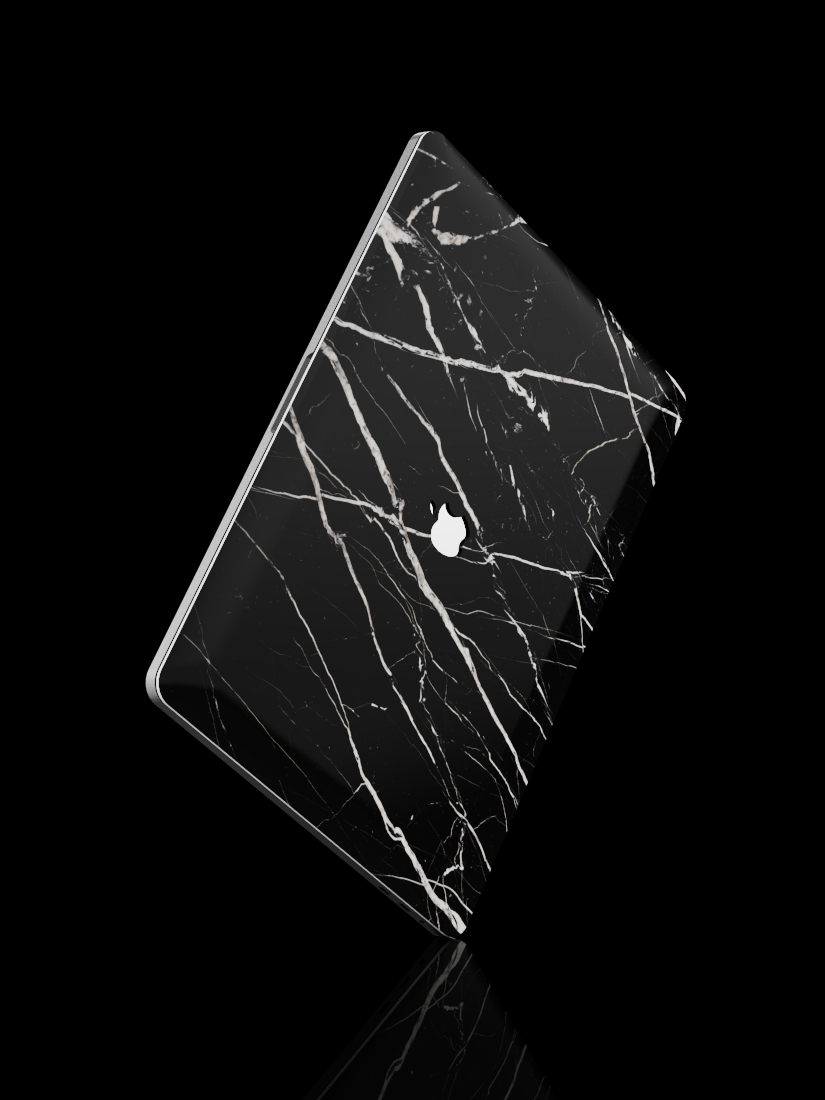 The Marble MacBook Skin Nero Marquina