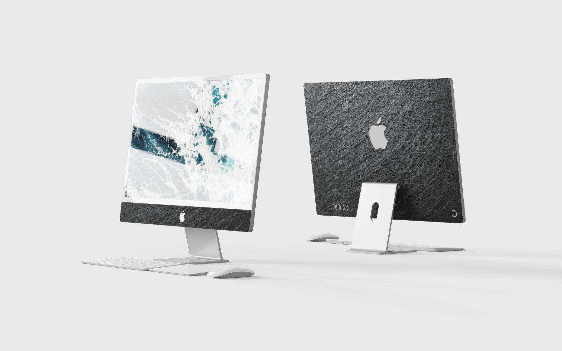New iMac Skin real slate stone in black slate made by Roxxlyn